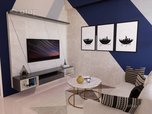 Contemporary Living Room@MUTIARA VILLE, CYBERJAYA