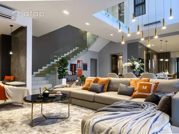 Contemporary Modern Living Room@The Enclave Premium Semi Dee, jadehills