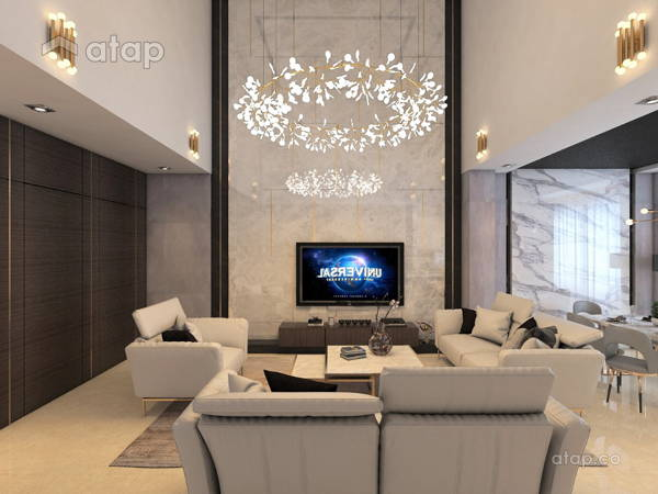 Contemporary Modern Living Room@HERMOSA VILLA, ECO SANCTUARY