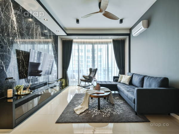 Contemporary Modern Living Room@Anjali Residence Family Home