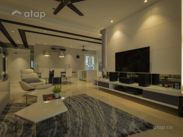 Contemporary Minimalistic Living Room@< Visual Vehemence > @ Seni Mont' Kiara