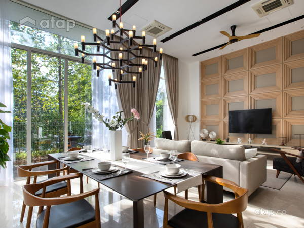 Contemporary Modern Dining Room@< Subtle Sophistication > @ Park Manor Showhouse, SierraMas