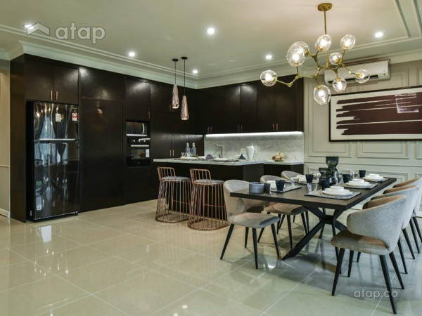 Classic Modern Dining Room Kitchen@Armanee Terrace 2