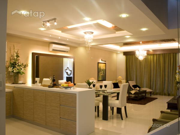 Asian Contemporary Dining Room@Contemporary Mix Tropical Design @ Zenia Terrace