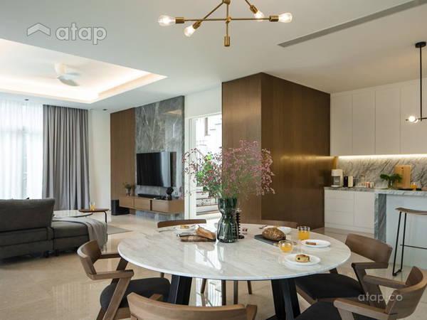 Minimalistic Scandinavian Dining Room Living Room@The urban house