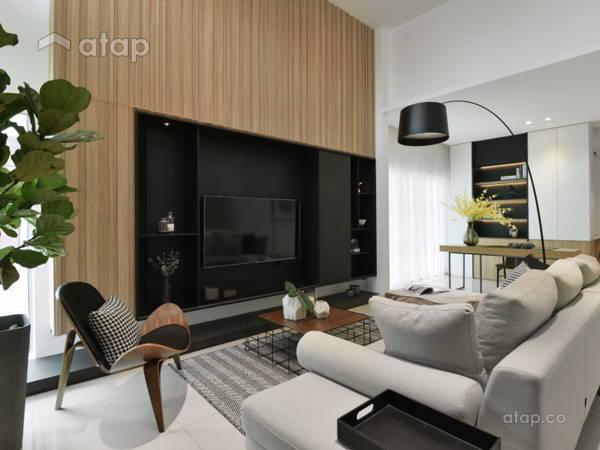 Contemporary Living Room@Sejati House - Semi-D at Sitiawan, Perak
