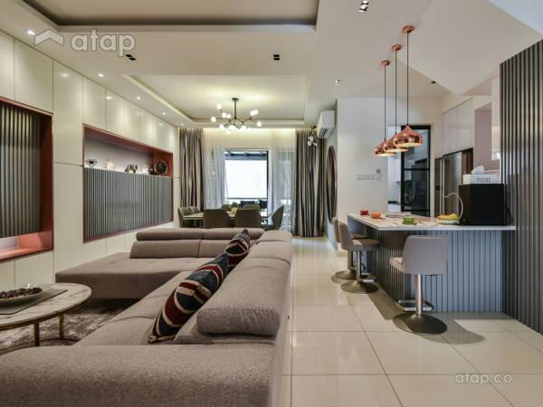 Contemporary Modern Living Room@Bayan Residence @ Tropicana Aman