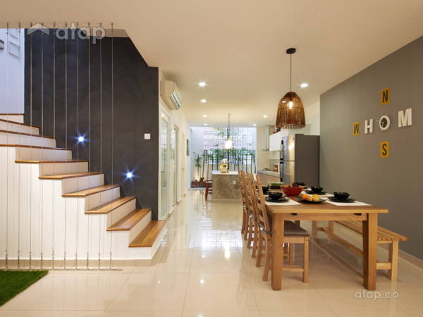 Contemporary Modern Dining Room@Sri Delima House