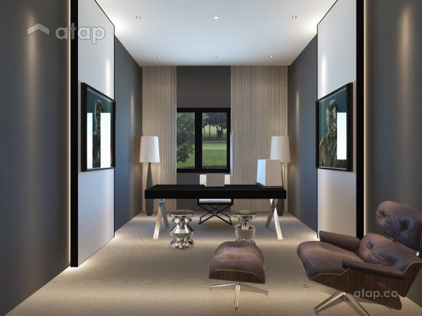 Malaysia Red Modern Study Room architectural interior design ideas