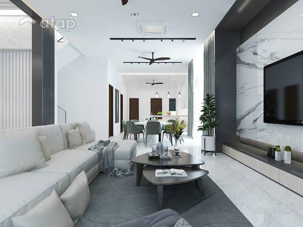 Contemporary Modern Living Room@TAMAN MULIA, BANTING