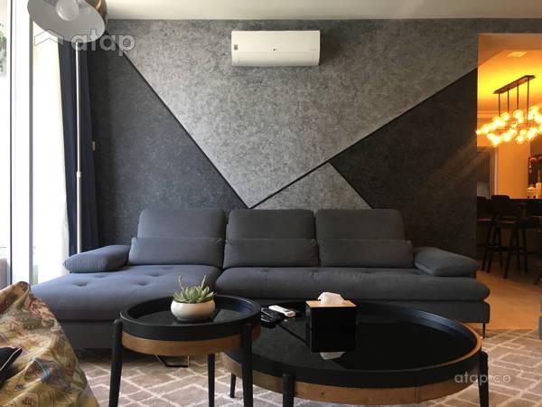 Modern Living Room@LAKEFRONT RESIDENCE TOWER 2