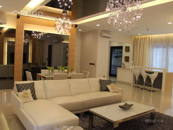 Minimalistic Modern Living Room@Semi Detached @ Setia Eco Park
