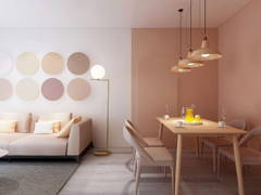 Minimalistic Scandinavian Dining Room Living Room@Goflex Signature - Nude Collection Interior
