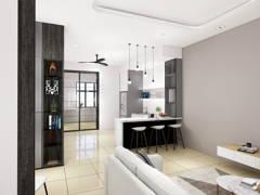 Contemporary Modern Kitchen@TAMAN MAJU, RAUB PAHANG