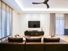 Industrial Minimalistic Living Room@Setia Alam Residence