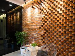Minimalistic Industrial Foyer@J Residence