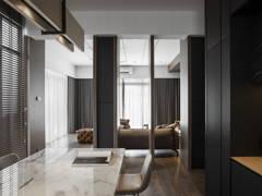 Classic Rustic Family Room Living Room@DARK AESTHETIC - Semi D, Taman melawati