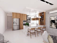 Scandinavian Dining Room Kitchen@LAKEPOINT RESIDENCE, CYBERJAYA