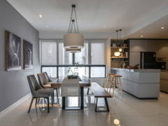 Contemporary Modern Dining Room Kitchen@Loo's 282