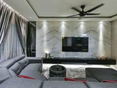 Minimalistic Modern Living Room@< Marble Sphere > @ Bukit Jalil