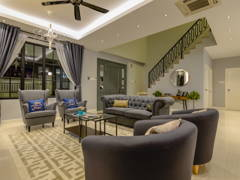 Classic Vintage Living Room@Bungalow @ Taman Rinting, Johor Bahru