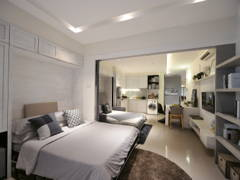 Minimalistic Modern Bedroom@HighPark Studio A3