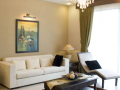Asian Contemporary Living Room@Contemporary Mix Tropical Design @ Zenia Terrace
