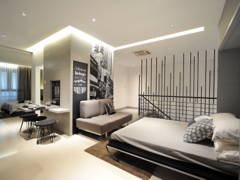 Minimalistic Modern Bedroom@HighPark Studio A1