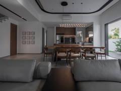 Asian Minimalistic Dining Room Kitchen@Hunter Douglas Exclusive Suites