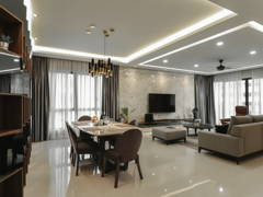 Minimalistic Modern Dining Room Living Room@Modern Luxury Residence at Mont Kiara 22