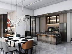Contemporary Modern Foyer Kitchen@Cheria Residence II