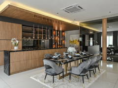 Contemporary Modern Dining Room Kitchen@ERVINA ARA SENDAYAN