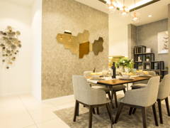 Contemporary Modern Dining Room@Sky Condo Puchong, Type B