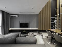Contemporary Minimalistic Dining Room Living Room@Pure of feild - Three storey superlink
