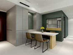 Contemporary Modern Dining Room Kitchen@Project C
