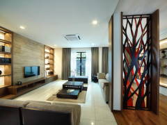 Contemporary Modern Living Room@Indah Villa Bungalow