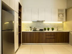Contemporary Modern Kitchen@Sky Condo Puchong, Type C