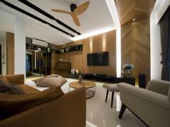Contemporary Modern Living Room@Adiva Residence @ Desa Park City