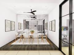 Contemporary Modern Dining Room@TAMAN MAJU, RAUB PAHANG