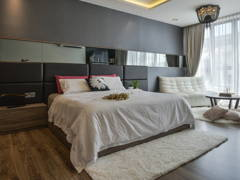 Contemporary Bedroom@Terrace house at Bandar Puteri Puchong