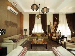 Rustic Contemporary Living Room@Damansara Bungalow