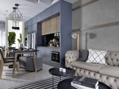 Contemporary Rustic Dining Room Kitchen@Sentral Suites Type B