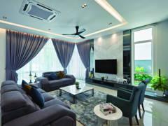 Contemporary Minimalistic Living Room@Palmiera @ Kinrara Residence