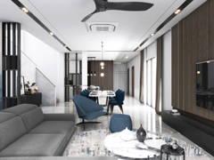 Contemporary Modern Living Room@Terima Qaseh 3