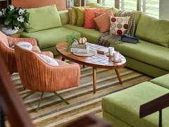 Retro Vintage Living Room@The mid century modern house