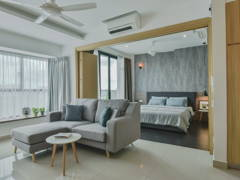 Minimalistic Scandinavian Bedroom Living Room@The Leafz Condominium