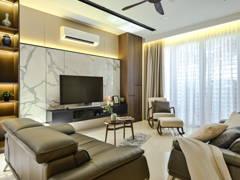 Contemporary Modern Living Room@Modern Contemporary 3 Storey Super Linked