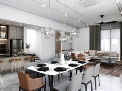 Contemporary Modern Dining Room Living Room@Cheria Residence II