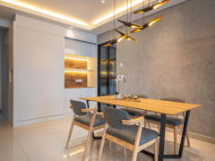 Contemporary Minimalistic Dining Room@Altered White @ Landmark Residence 1, Bandar Sungai Long