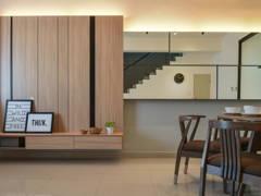 Minimalistic Modern Dining Room Living Room@Bandar Seri Coalfields